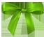 Зеленый бантик