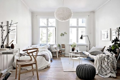 Интерьер в новой квартире: изящно и бюджетно.
