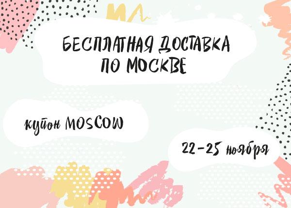 Бесплатная доставка по Москве в ноябре