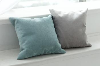 Подарок: комплект подушек Velour Mint + Velour Gray