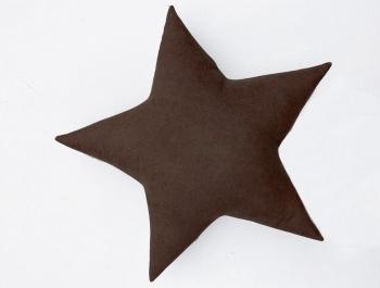 Подушка звезда Brown Velvet