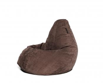 Кресло мешок груша XXL Brown Velvet