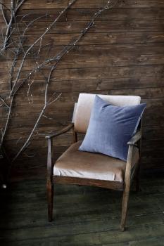 Декоративная подушка Gray-Blue Velvet