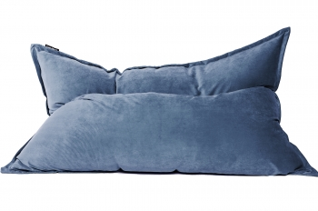 Кресло подушка Gray-Blue Velvet