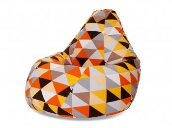 Кресло мешок груша XL Diamonds Orange