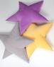 Подушка звезда Light-Gray Velvet светло-серая