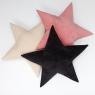 Подушка звезда Black Velvet черная