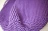 Вязаный пуф Violet фиолетовый