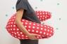 Подушка для беременных Amanita белый горох