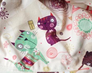 Ткань для кресла мешка Cats