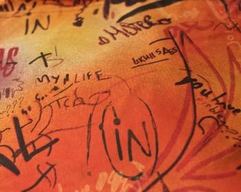 Ткань для кресла мешка Graffity Orange