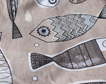 Ткань для кресла мешка Fish