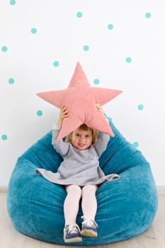 Подушка звезда Pink Velvet