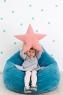 Подушка звезда Pink Velvet розовая