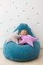 Подушка звезда Purple Velvet фиолетовая
