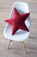 Подушка звезда Bordo Velvet