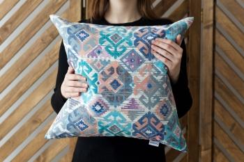 Декоративная подушка Carpet Blue