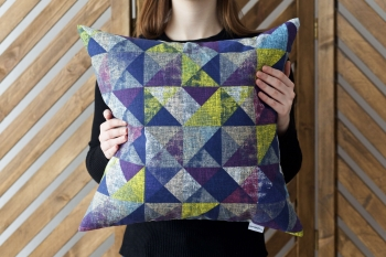 Декоративная подушка Diamonds Violet