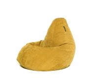 Кресло мешок груша L Mustard Velvet