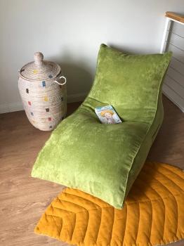 Лежак Velour Green