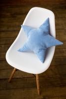 Подушка звезда Light Blue Velvet