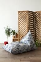 Треугольное кресло Velour Tropics Gray