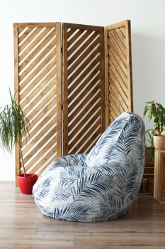 Кресло мешок XL Tropics Gray