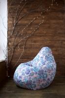 Кресло мешок груша XL Carpet Blue