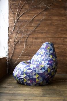 Кресло мешок груша XXL Diamonds Violet