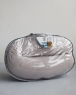 Подушка для беременных Light-Gray Velvet серая