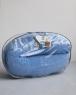 Подушка для беременных Light-Blue Velvet голубая