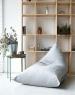 Треугольное кресло Velour Light-Gray