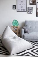 Треугольное кресло Velour Light Gray