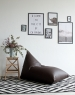 Треугольное кресло Leather Brown