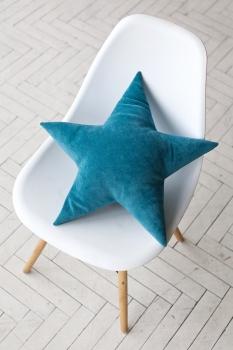 Подушка звезда Turquoise Velvet