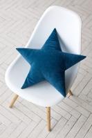 Подушка звезда T Velvet бирюзовая