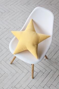 Подушка звезда Yellow Velvet