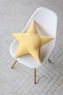 Подушка звезда Yellow Velvet желтая