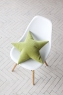Подушка звезда Green Velvet зеленая