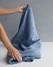 Ткань для кресла мешка Gray Blue Velvet