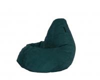 Кресло мешок L Dark-Turquoise Velvet бирюзовый
