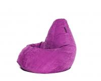 Кресло мешок XXL Malina Velvet малиновый