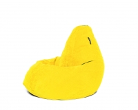 Кресло мешок L Yellow Velvet желтый