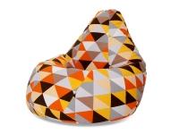 Кресло мешок груша XXL Diamonds Orange