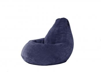 Кресло мешок груша XL Dark Blue Velvet