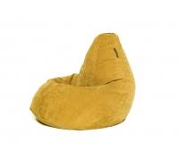 Кресло мешок груша XL Mustard Velvet