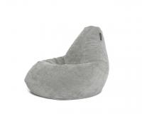 Кресло мешок XL Light-Gray Velvet светло-серый