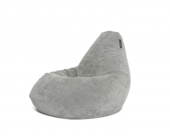 Кресло мешок XXL Light-Gray Velvet светло-серый