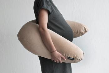 Подушка для беременных Beige Velvet бежевая