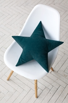 Подушка звезда Dark-Turquoise Velvet
